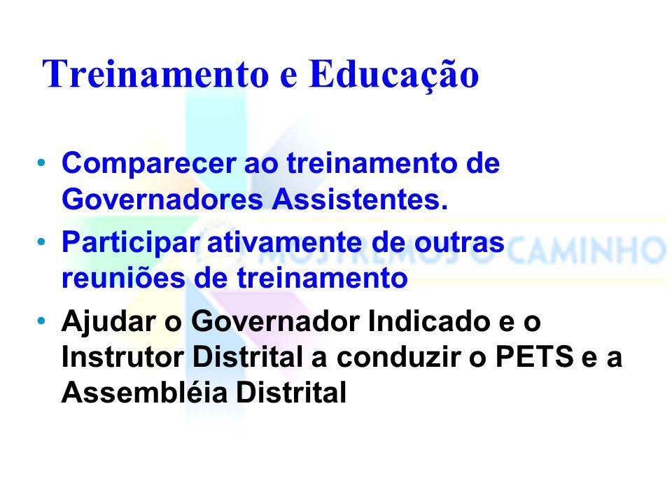 Atribuições do Governador Assistente na Estrutura Comunicacional Governador Assistente Presidente do Clube Comissões do Clube Governador