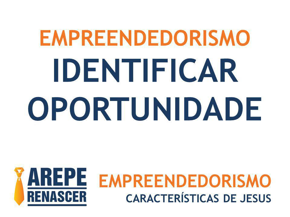 EMPREENDEDORISMO CARACTERÍSTICAS DE JESUS EMPREENDEDORISMO IDENTIFICAR OPORTUNIDADE