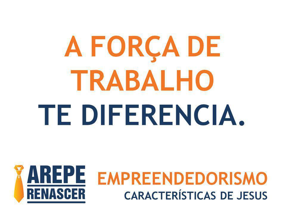 EMPREENDEDORISMO CARACTERÍSTICAS DE JESUS A FORÇA DE TRABALHO TE DIFERENCIA.