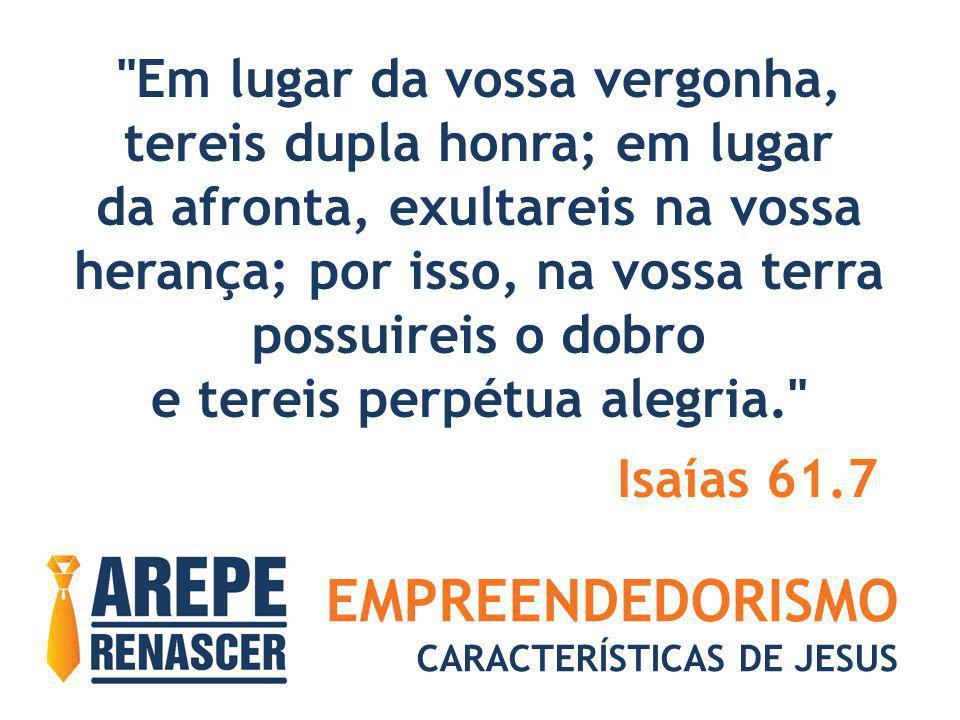 EMPREENDEDORISMO CARACTERÍSTICAS DE JESUS