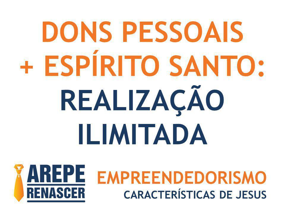 EMPREENDEDORISMO CARACTERÍSTICAS DE JESUS DONS PESSOAIS + ESPÍRITO SANTO: REALIZAÇÃO ILIMITADA