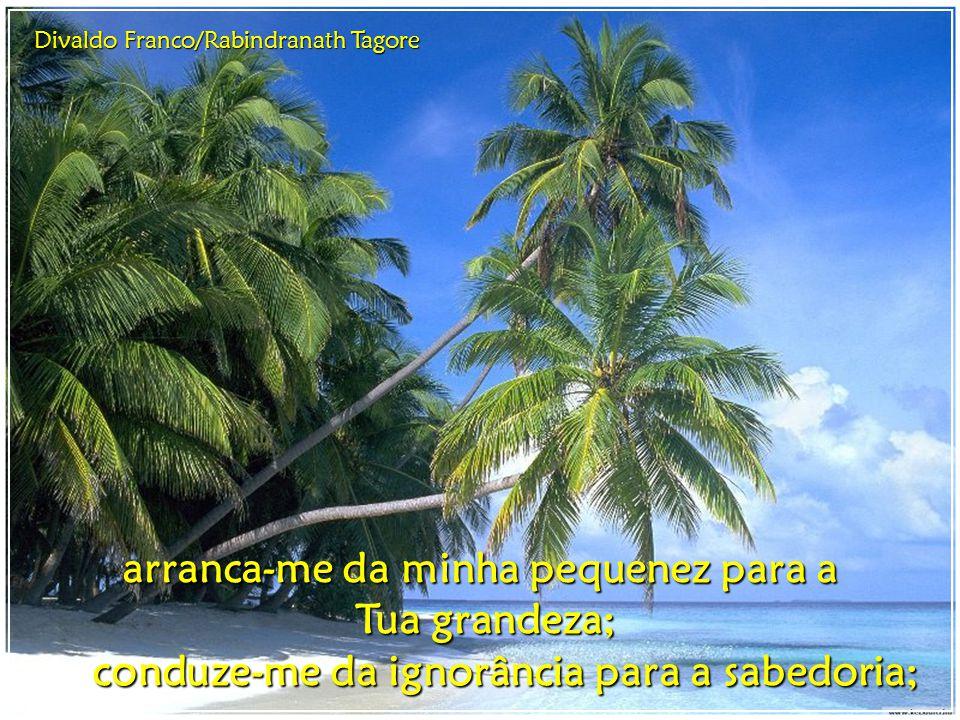 Divaldo Franco/Rabindranath Tagore Assim, mergulhando no oceano da Tua presença e viajando nos ventos que me conduzem a Ti, eu digo: