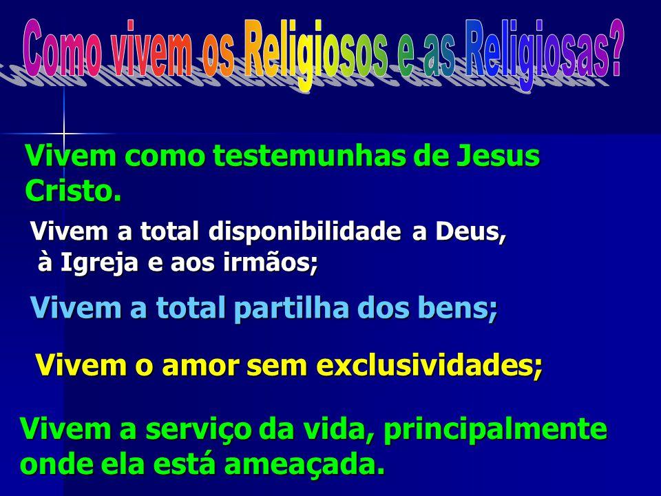 No dia em que assumem esta vocação, os Religiosos seguindo Jesus Cristo, comprometem- se a viver os três votos, ou promessas de:
