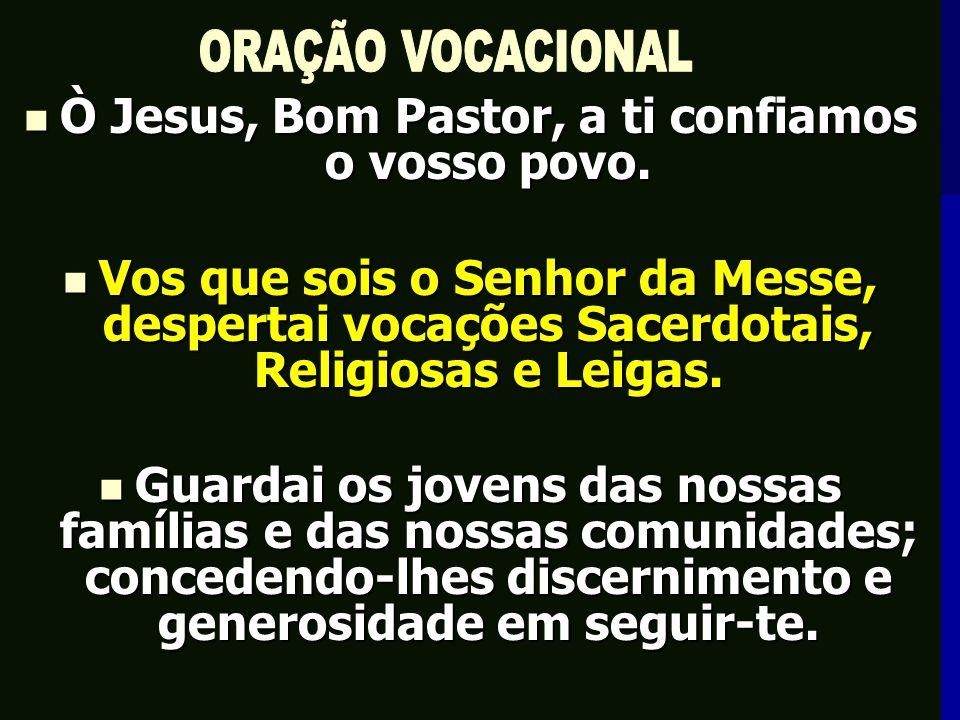 Ò Jesus, Bom Pastor, a ti confiamos o vosso povo.Ò Jesus, Bom Pastor, a ti confiamos o vosso povo.