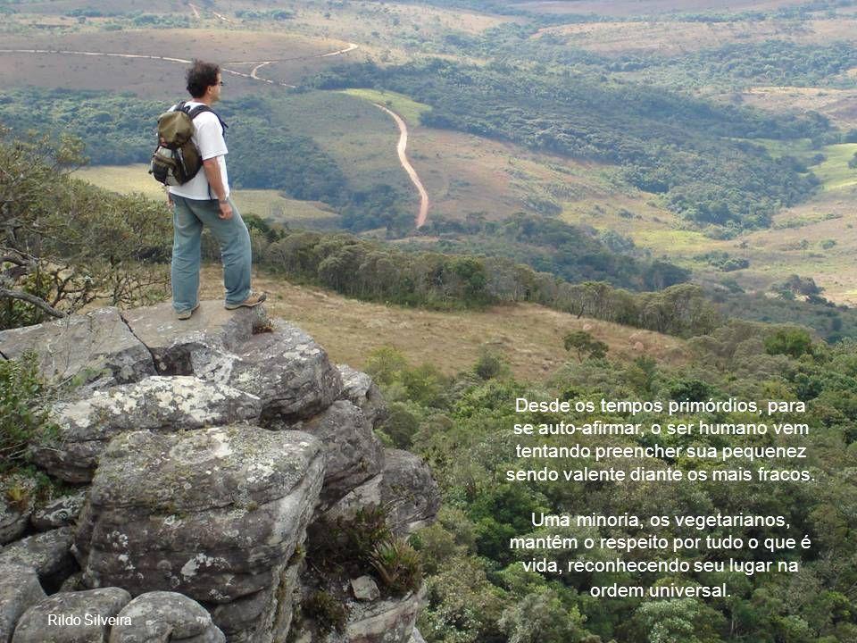 Foto: Rildo Silveira Os Valentes e o Vegetarianismo Bravura física é um instinto animal; bravura moral é coragem muito mais forte e autêntica.