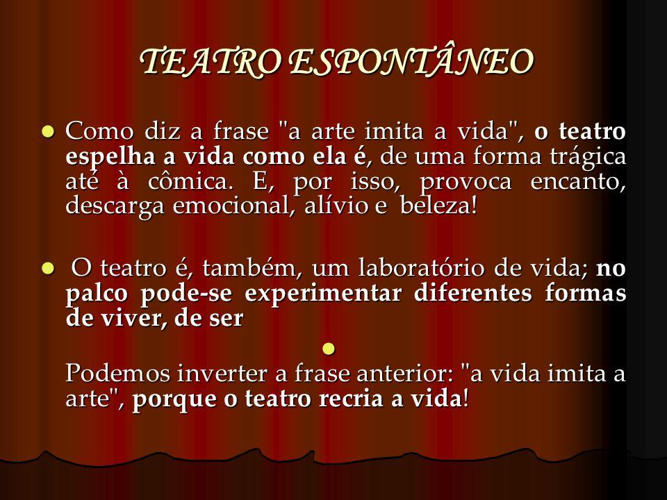 TEATRO ESPONTÂNEO Como diz a frase