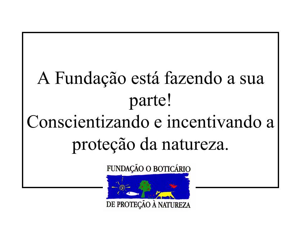 A Fundação está fazendo a sua parte! Conscientizando e incentivando a proteção da natureza.