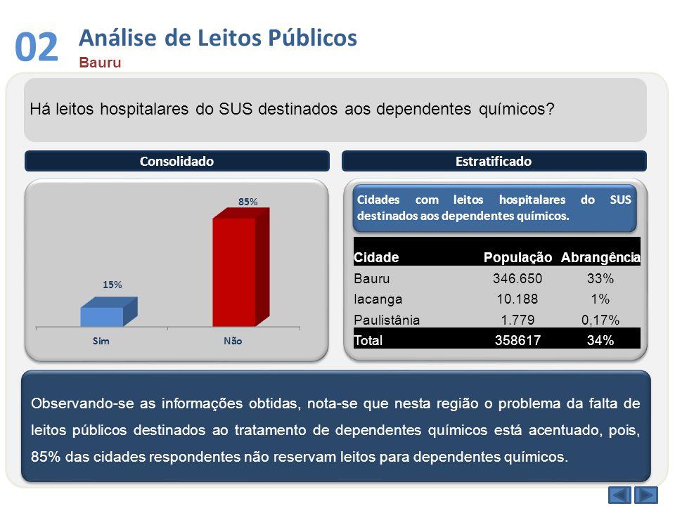 03 Análise por Faixa Etária Bauru Qual a faixa etária entre os dependentes químicos atendidos no sistema público.