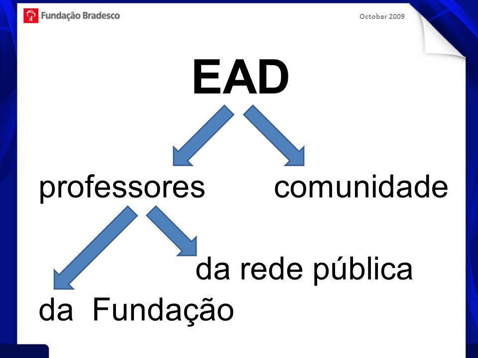 October 2009 EAD professorescomunidade da rede pública da Fundação