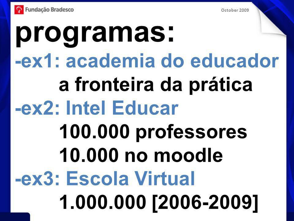 October 2009 filosofia: -rapidez -flexibilidade -coerência -foco na prática