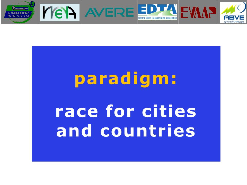 paradigm: race for cities and countries