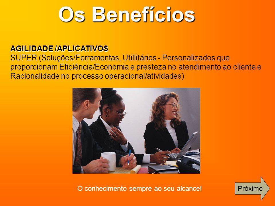 AGILIDADE /APLICATIVOS SUPER (Soluções/Ferramentas, Utillitários - Personalizados que proporcionam Eficiência/Economia e presteza no atendimento ao cl
