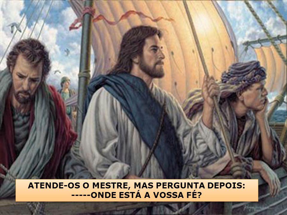 A TEMPESTADE ESTABELECERA A PERTURBAÇÃO NO ÂNIMO DOS DISCÍPULOS MAIS FORTES. DESORIENTADOS, ANTE A FÚRIA DOS ELEMENTOS, SOCORREM-SE DE JESUS, EM ALTOS