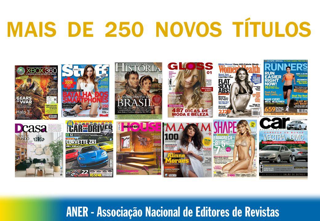 BRASILCIRCULAÇÃO Fonte: IVC e Distribuidores NÚMERO DE TÍTULOS DE REVISTAS