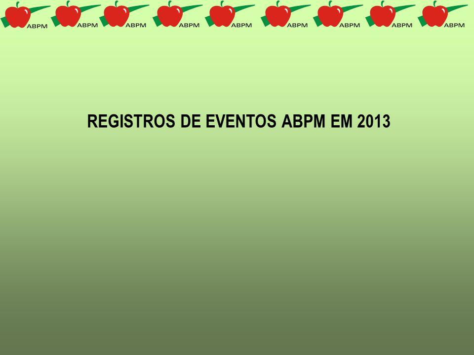 REGISTROS DE EVENTOS ABPM EM 2013