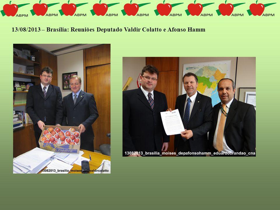 13/08/2013 – Brasília: Reuniões Deputado Valdir Colatto e Afonso Hamm