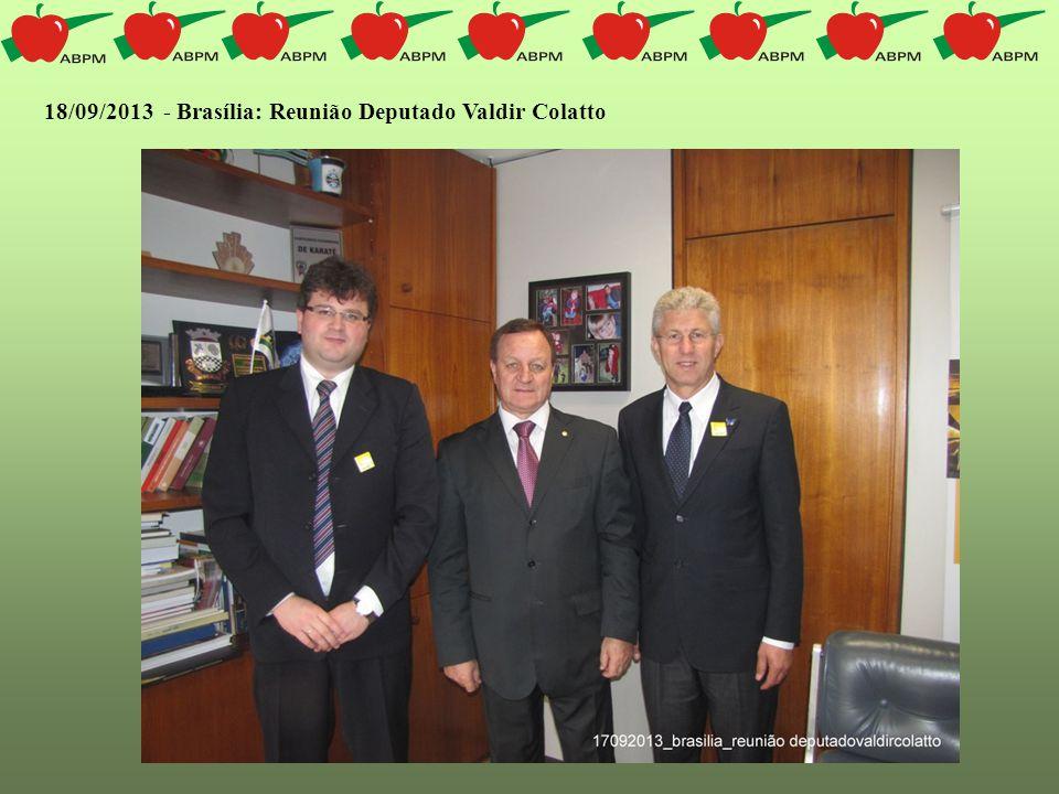 18/09/2013 - Brasília: Reunião Deputado Valdir Colatto