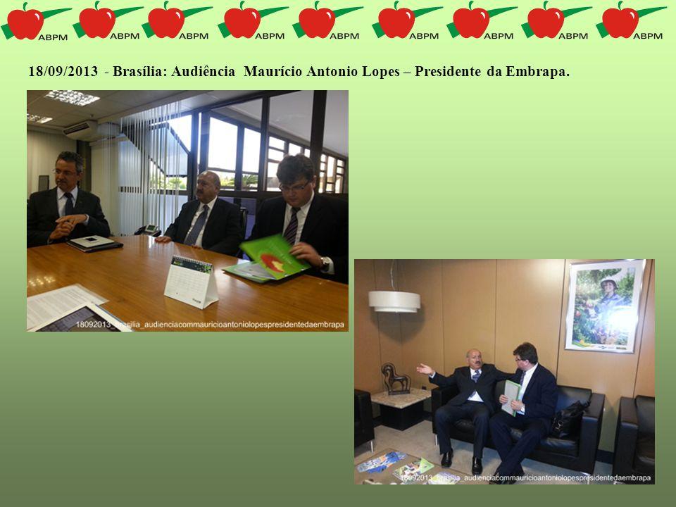 18/09/2013 - Brasília: Audiência Maurício Antonio Lopes – Presidente da Embrapa.