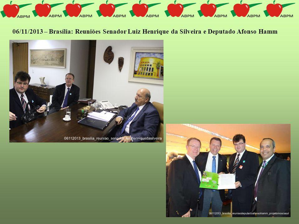 06/11/2013 – Brasília: Reuniões Senador Luiz Henrique da Silveira e Deputado Afonso Hamm