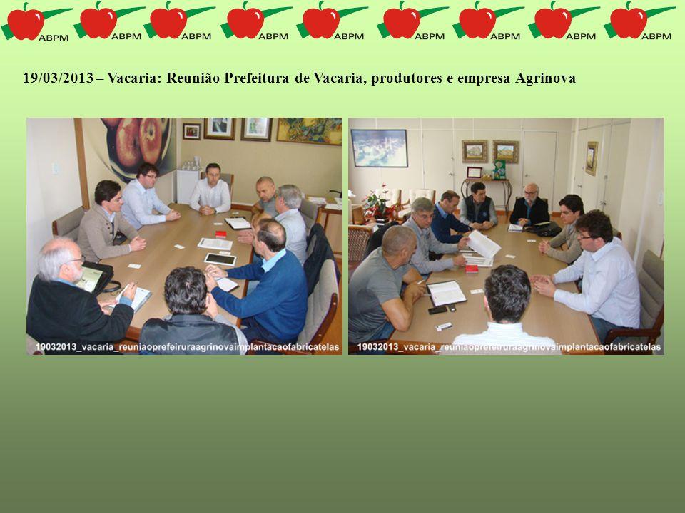 19/03/2013 – Vacaria: Reunião Prefeitura de Vacaria, produtores e empresa Agrinova