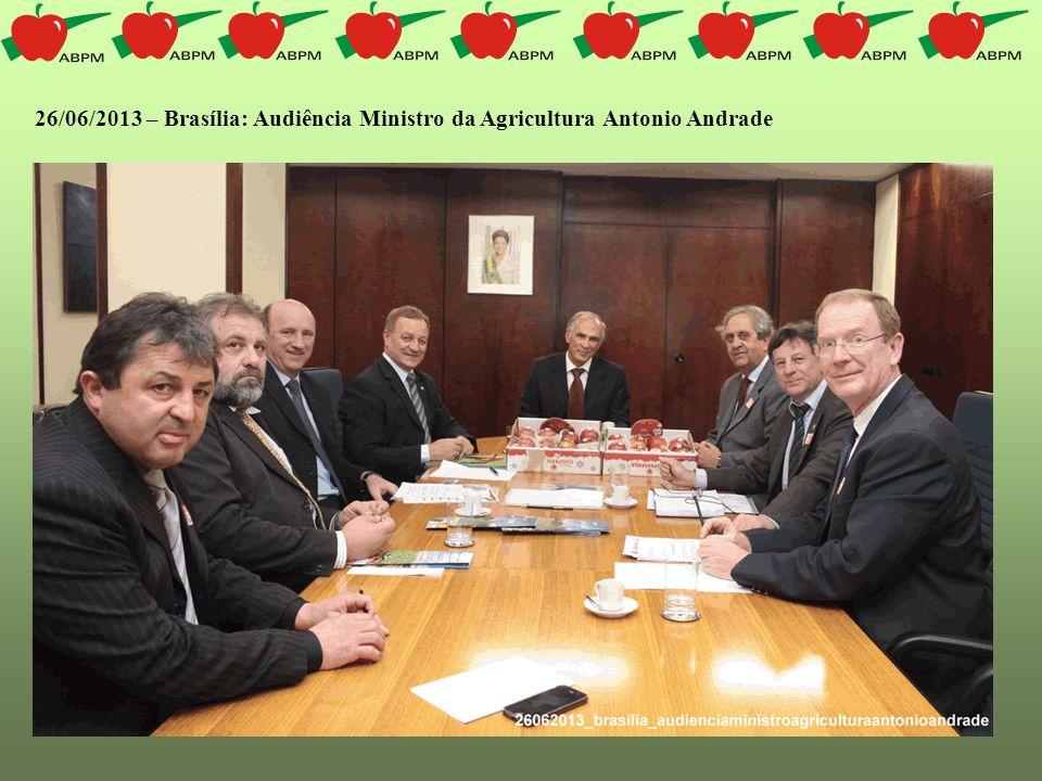 13/08/2013 – Brasília: Audiência Neri Geller - Secretário de Política Agrícola do MAPA