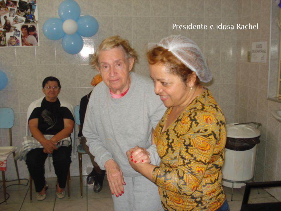 Presidente e idosa Rachel
