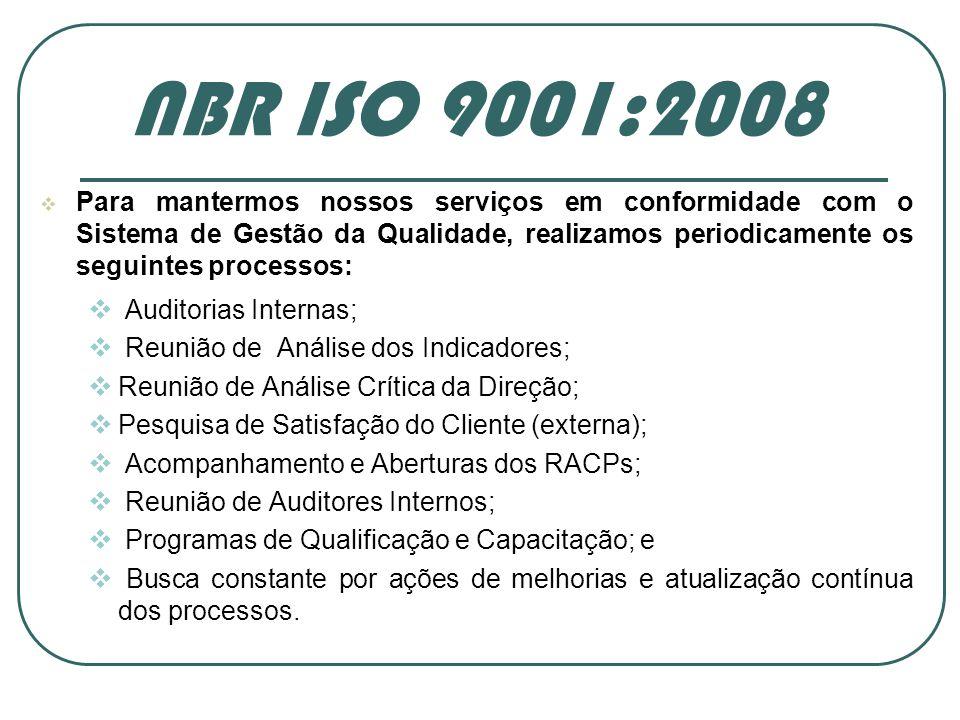 Auditoria Interna SGQ FCDL/SC NBR ISO 9001:2008