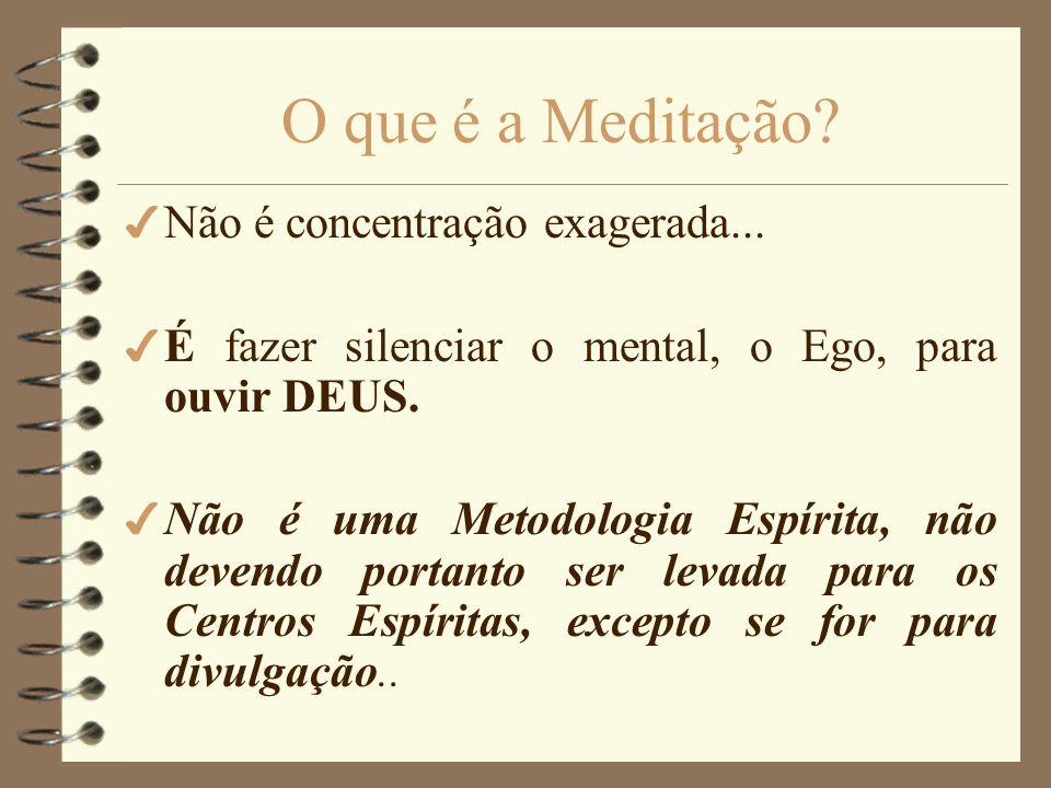 Trabalho realizado por Cândida Vieira Agosto de 1999 Meditação e Mediunidade Bibliografia: FRANCO, Divaldo, Visualizações Terapêuticas e Meditação PER