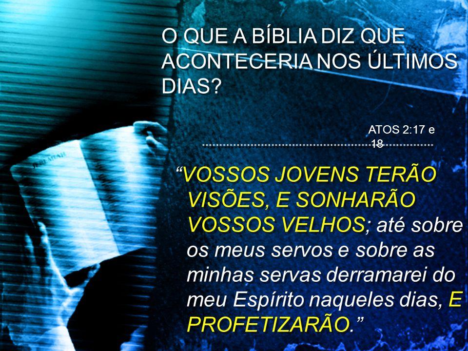 QUAL, DIZ A BÍBLIA, SERIA UM DOS SINAIS DO FIM?