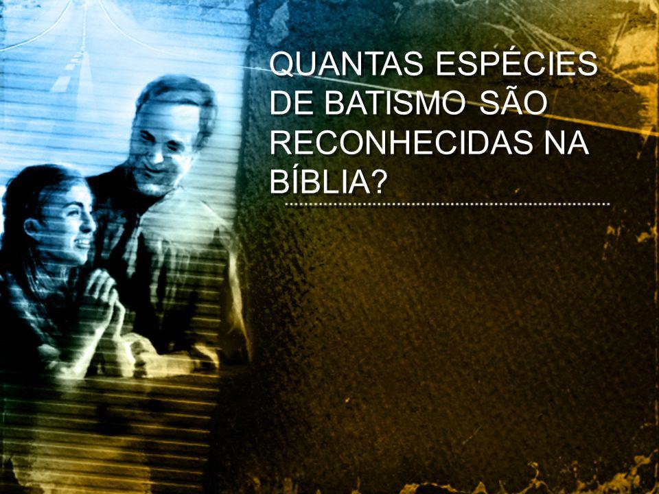 QUANTAS ESPÉCIES DE BATISMO SÃO RECONHECIDAS NA BÍBLIA?