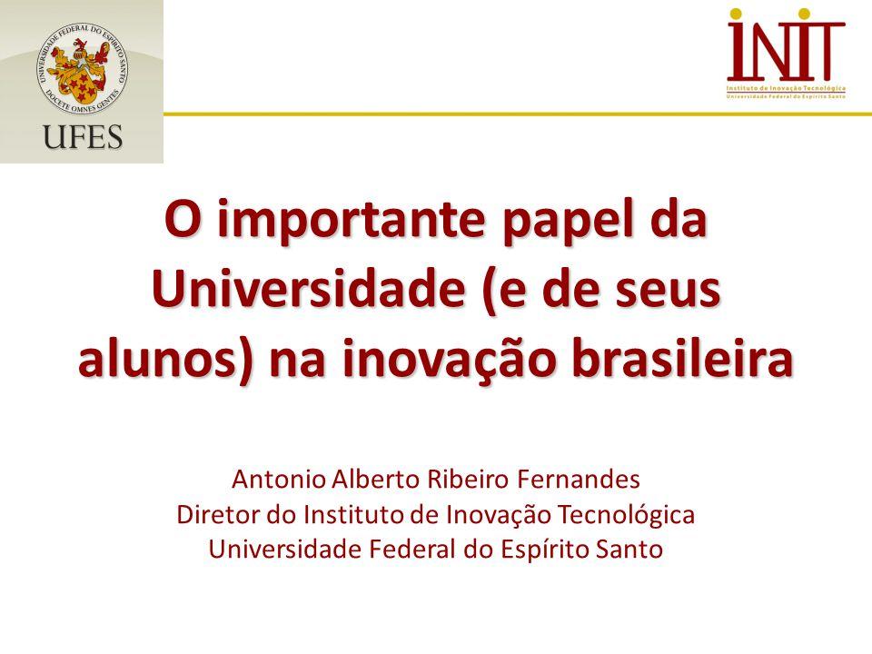 O importante papel da Universidade (e de seus alunos) na inovação brasileira O importante papel da Universidade (e de seus alunos) na inovação brasile