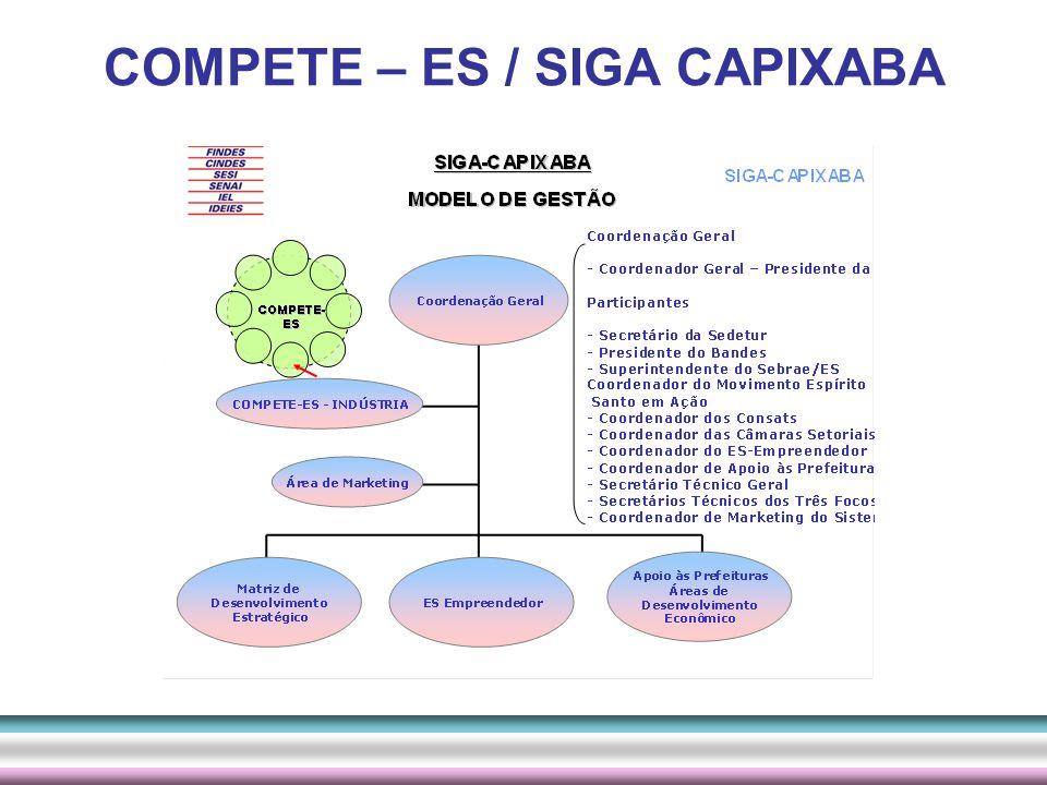 SECRETARIA EXECUTIVA COMITÊ EXECUTIVO CONSELHO DE GESTÃO ESTRATÉGICA Estrutura de Gestão do COMPETE - ES