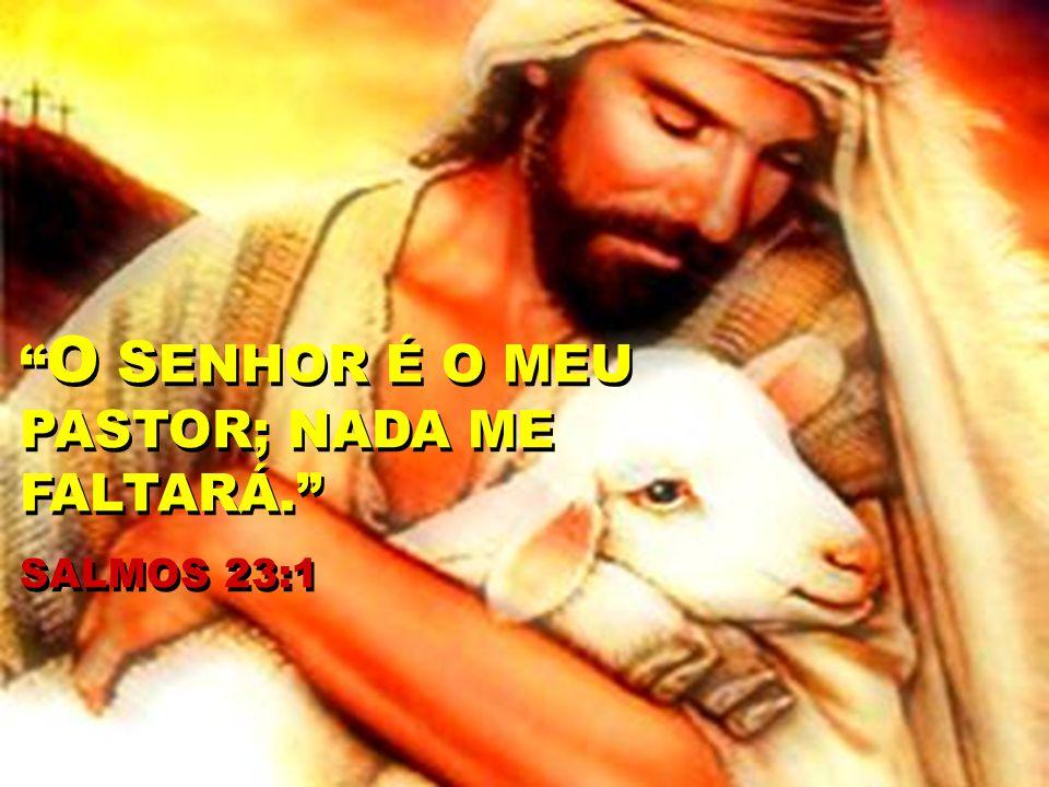 O S ENHOR É O MEU PASTOR; NADA ME FALTARÁ. SALMOS 23:1 O S ENHOR É O MEU PASTOR; NADA ME FALTARÁ. SALMOS 23:1