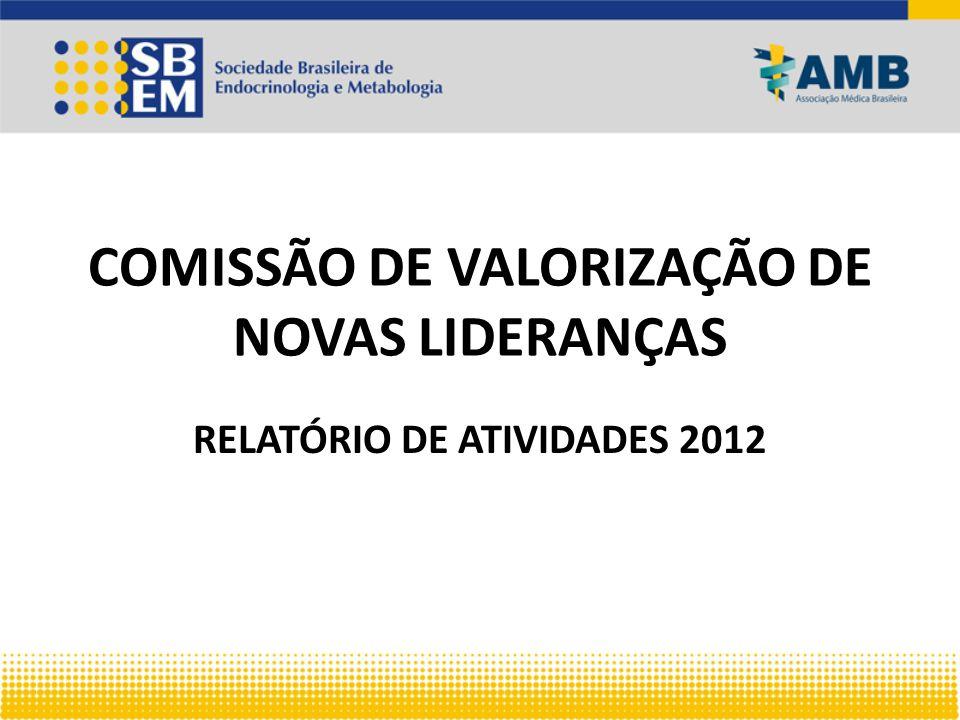 COMISSÃO DE VALORIZAÇÃO DE NOVAS LIDERANÇAS RELATÓRIO DE ATIVIDADES 2012