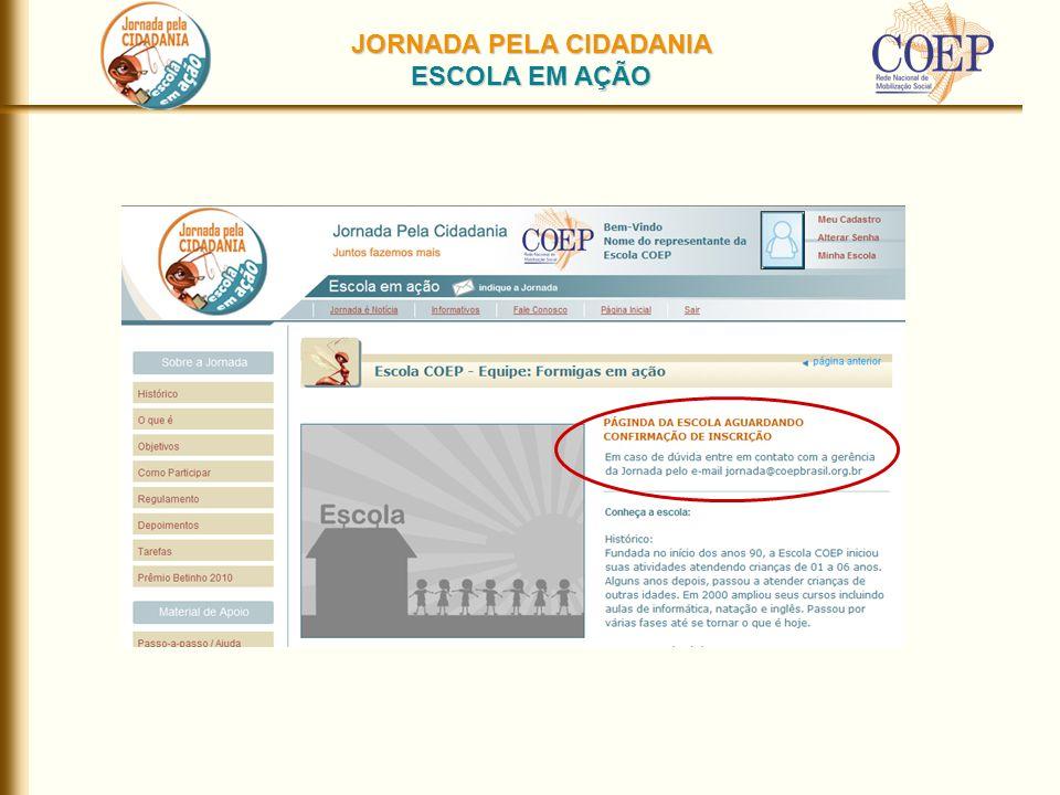 JORNADA PELA CIDADANIA ESCOLA EM AÇÃO