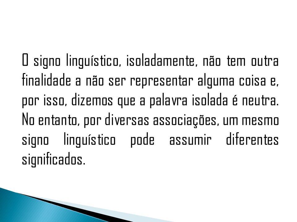 Tomemos, por exemplo, na nossa língua, o signo linha: a esse significante se associam vários significados.