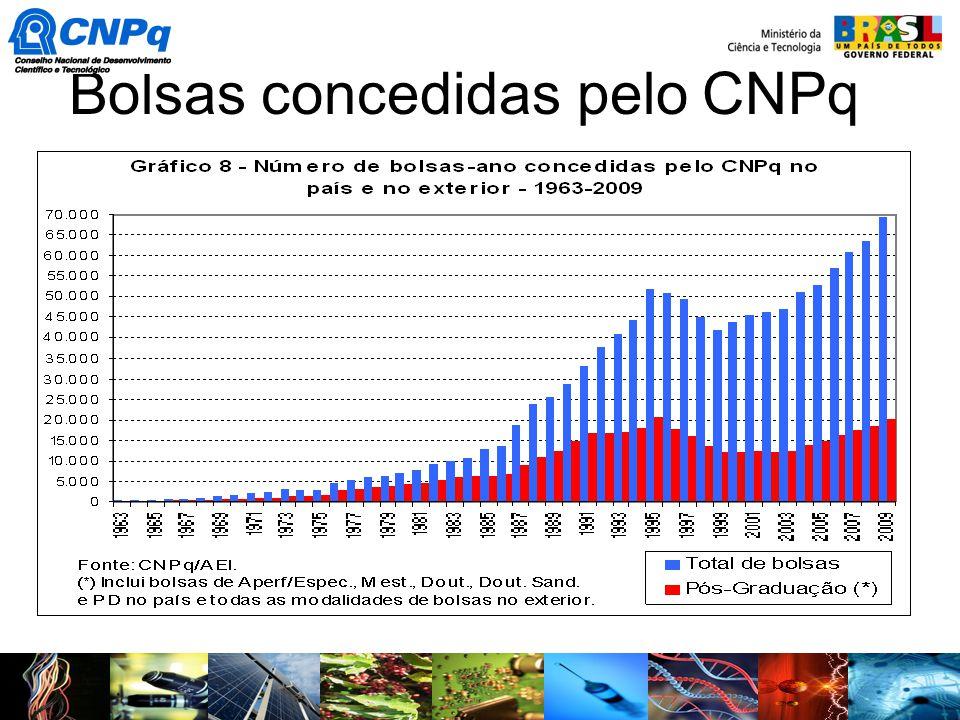 Bolsas concedidas pelo CNPq