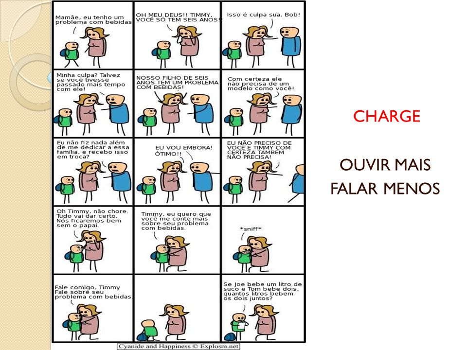 CHARGE CHARGE OUVIR MAIS FALAR MENOS