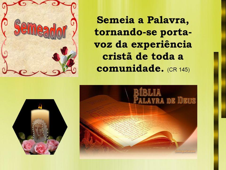 Catequista, parabéns pela resposta dada ao convite do Senhor, e com muito entusiasmo continue a anunciar a sua Palavra.