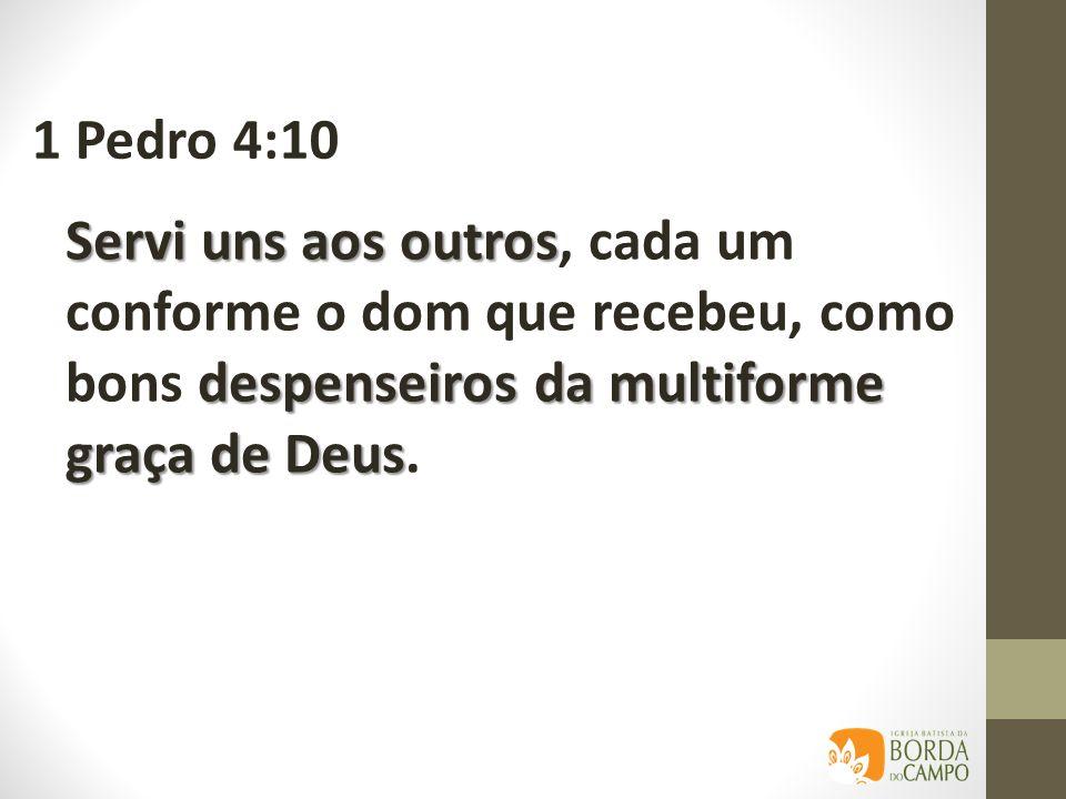fala serve Se alguém fala, fale de acordo com os oráculos de Deus; se alguém serve, faça-o na força que Deus supre, 1 Pedro 4:11