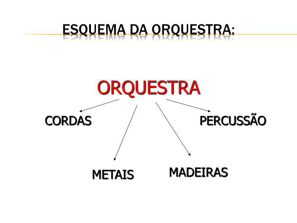 CORDAS ORQUESTRA PERCUSSÃO METAIS MADEIRAS
