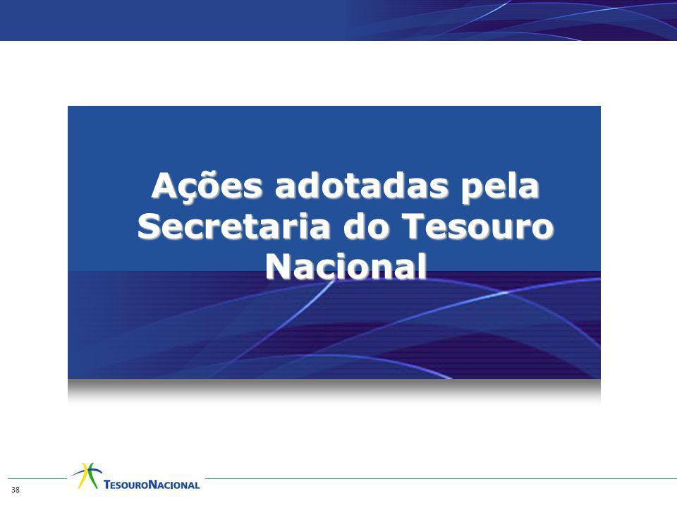 Ações adotadas pela Secretaria do Tesouro Nacional 38