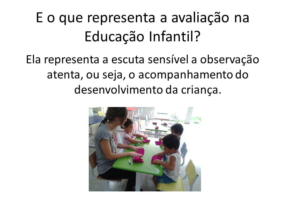 E o que representa a avaliação na Educação Infantil.