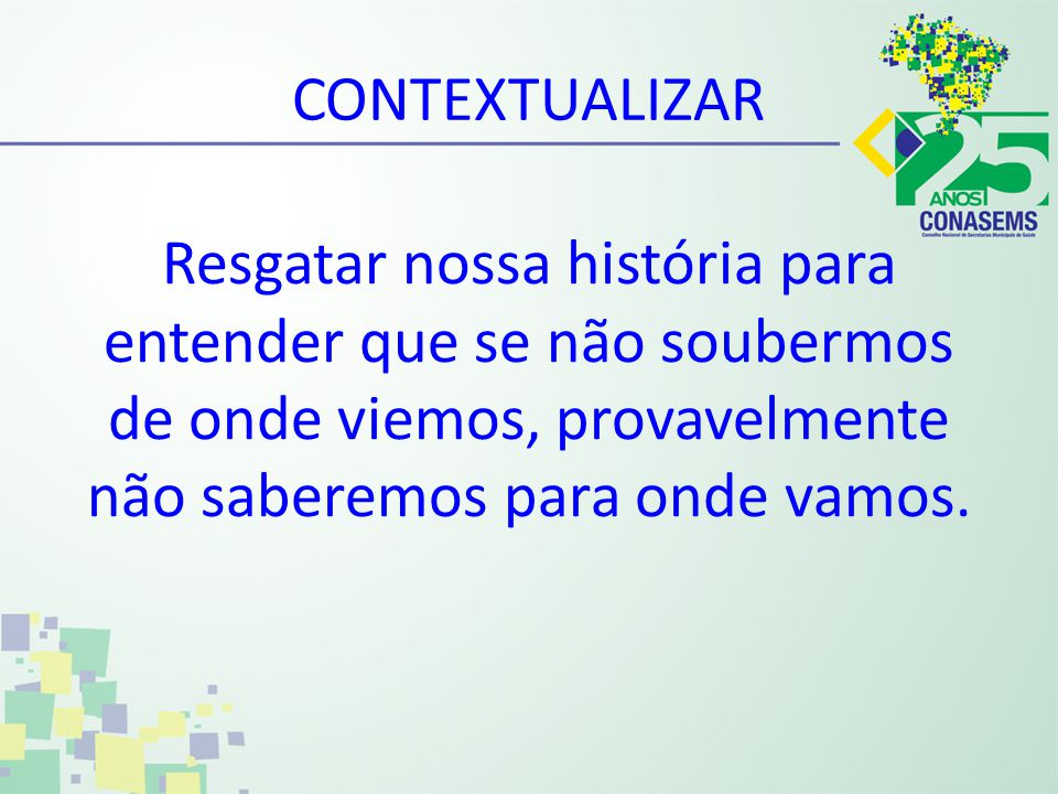 Final dos anos 80 A VIII CONFERÊNCIA NACIONAL DE SAÚDE 1986 COSEMS O CONASEMS E OS COSEMS O SUS A REFORMA SANITÁRIA BRASILEIRA Inicia nos anos 70 CONSTITUIÇÃO FEDERAL-1988 CONSTITUIÇÃO FEDERAL-1988 DITADURA BOOO.