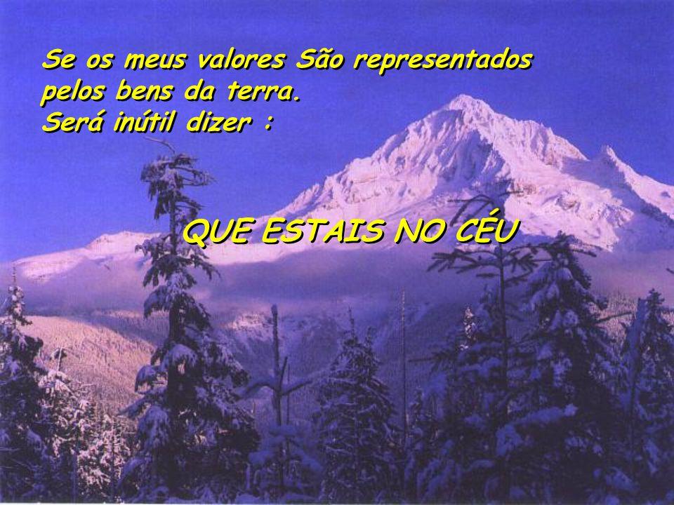 Se os meus valores São representados pelos bens da terra. Será inútil dizer : Se os meus valores São representados pelos bens da terra. Será inútil di