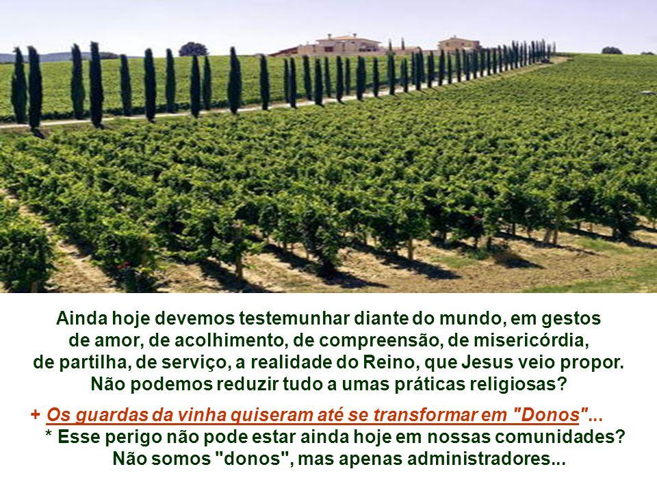 - Isaías resume a queixa de Deus nas palavras do dono da vinha: