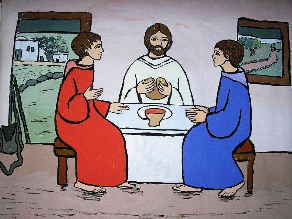 - No final da tarde, os discípulos chegam em casa e fazem um CONVITE: