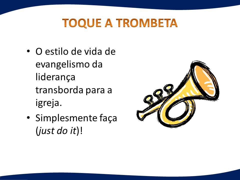 O estilo de vida de evangelismo da liderança transborda para a igreja. Simplesmente faça (just do it)!