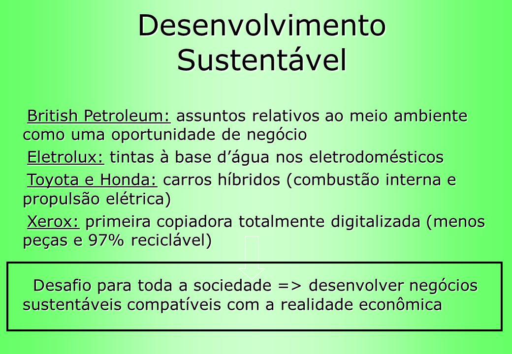Desenvolvimento Sustentável British Petroleum: assuntos relativos ao meio ambiente como uma oportunidade de negócio British Petroleum: assuntos relati