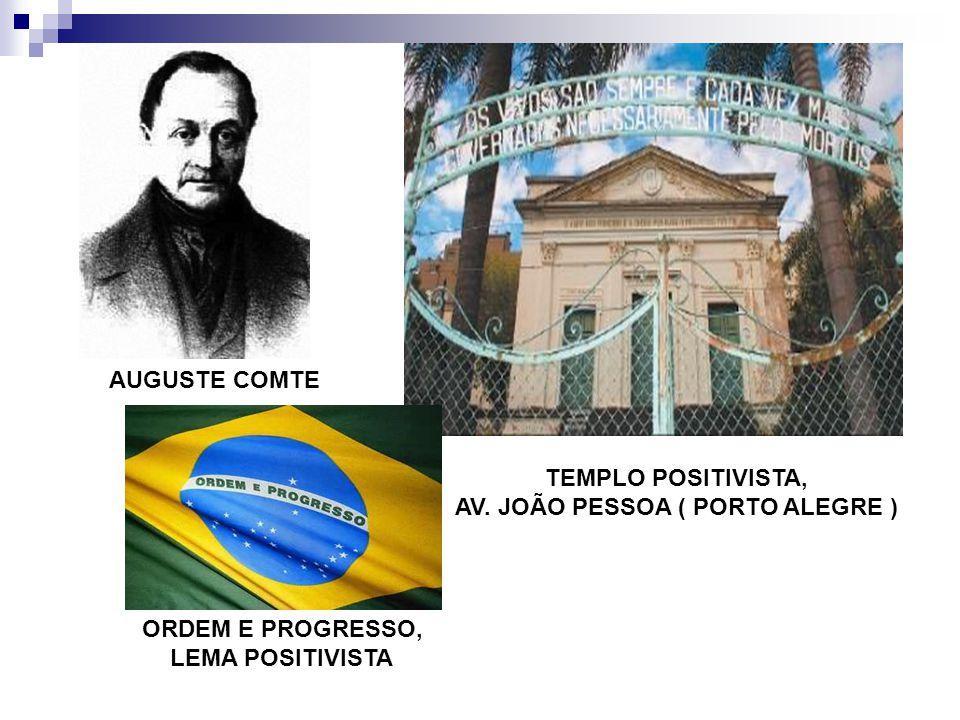 TEMPLO POSITIVISTA, AV. JOÃO PESSOA ( PORTO ALEGRE ) AUGUSTE COMTE ORDEM E PROGRESSO, LEMA POSITIVISTA